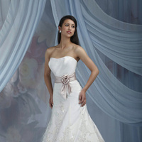 Wedding Dresses, A-line Wedding Dresses, Lace Wedding Dresses, Fashion, Lace, Strapless, Strapless Wedding Dresses, A-line, Satin, Impression bridal, chapel train, satin band, satin wedding dresses