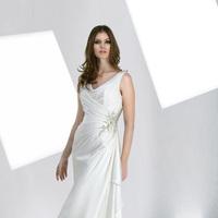 Wedding Dresses, Fashion, Sheath, Chiffon, Pleats, Impression bridal, jewel detail, jewel straps, cowl neckline, Sheath Wedding Dresses, Chiffon Wedding Dresses