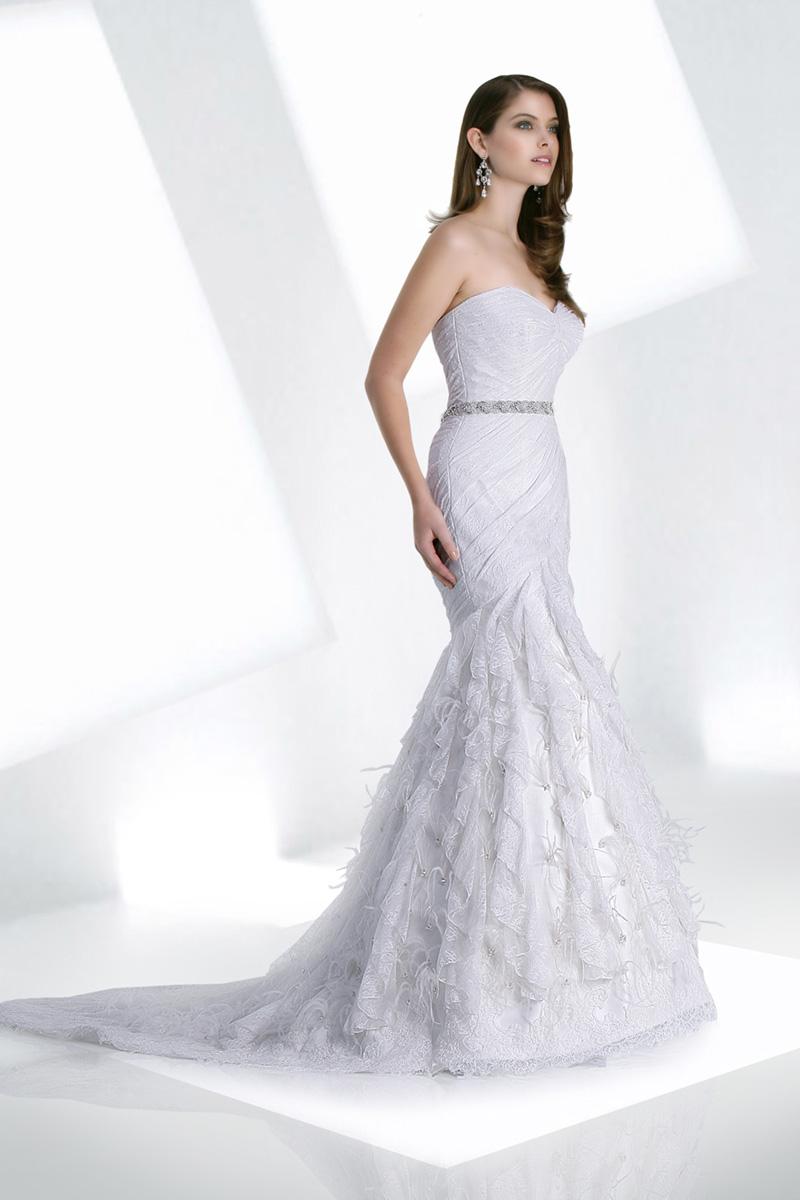 Wedding Dresses, Sweetheart Wedding Dresses, Lace Wedding Dresses, Fashion, Lace, Sweetheart, Natural waist, Fit and flare, Beaded belt, Impression bridal, ruffled skirt, fishtail train