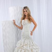 Wedding Dresses, Ball Gown Wedding Dresses, Ruffled Wedding Dresses, Fashion, Beading, Ruffles, Ruching, Ball gown, Impression bridal, dropped waist, layered skirt, Beaded Wedding Dresses