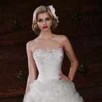 Wedding Dresses, Fashion, Beading, Tulle, Swirls, Impression bridal, pleated bodice, Beaded Wedding Dresses, mini skirt, tulle wedding dresses