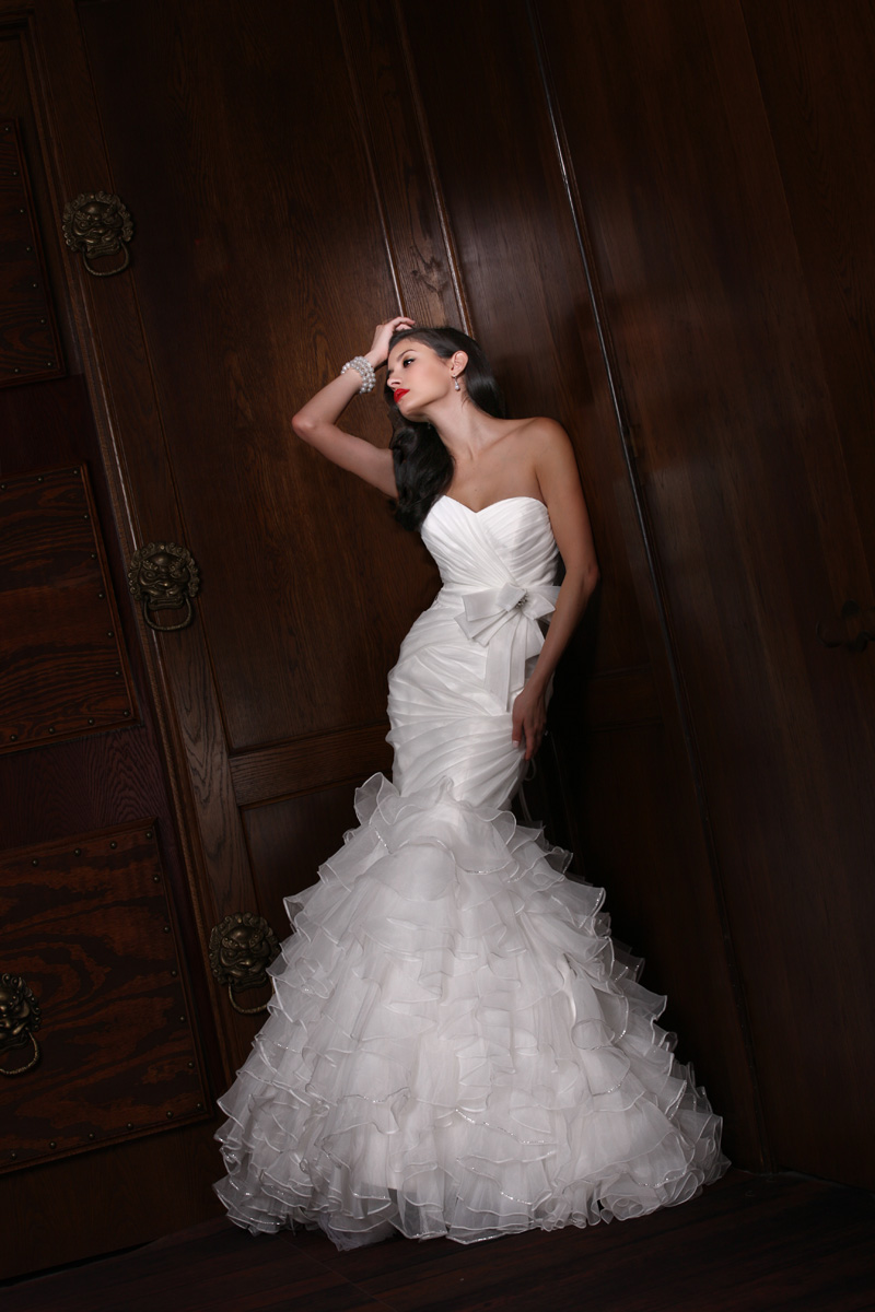 Wedding Dresses, Sweetheart Wedding Dresses, Ruffled Wedding Dresses, Fashion, Sweetheart, Strapless, Strapless Wedding Dresses, Fit and flare, Bow, Ruffles, Impression bridal