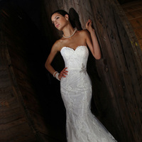 Wedding Dresses, Sweetheart Wedding Dresses, Fashion, Sweetheart, Beading, Fit and flare, Impression bridal, sweep train, Beaded Wedding Dresses