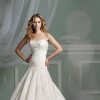 Wedding Dresses, Sweetheart Wedding Dresses, Lace Wedding Dresses, Fashion, Mermaid, Lace, Sweetheart, Strapless, Strapless Wedding Dresses, Tulle, James clifford collection, dropped waist, crystal beading, tulle wedding dresses