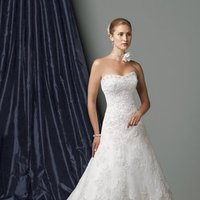 Wedding Dresses, A-line Wedding Dresses, Lace Wedding Dresses, Fashion, Lace, Strapless, Strapless Wedding Dresses, A-line, James clifford collection, chapel train, 3D flowers, hand beading