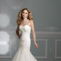 Wedding Dresses, Sweetheart Wedding Dresses, Lace Wedding Dresses, Fashion, Mermaid, Lace, Sweetheart, Strapless, Strapless Wedding Dresses, Tulle, James clifford collection, chapel train, dropped waist, crystal beading, tulle wedding dresses