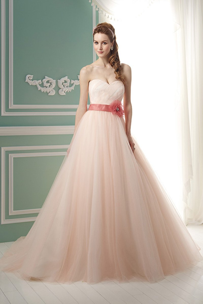 Wedding Dresses, Sweetheart Wedding Dresses, Ball Gown Wedding Dresses, Romantic Wedding Dresses, Fashion, pink, Fall, Winter, Shabby Chic, Romantic, Sweetheart, Strapless, Strapless Wedding Dresses, Empire, Tulle, Floor, Sleeveless, Ball gown, Jasmine collection, Avant-Garde, Sash/Belt, tulle wedding dresses, winter wedding dresses, Fall Wedding Dresses, Floor Wedding Dresses, Shabby Chic Wedding Dresses, Sash Wedding Dresses, Belt Wedding Dresses