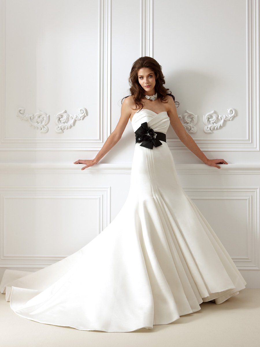 Wedding Dresses, Sweetheart Wedding Dresses, Mermaid Wedding Dresses, Hollywood Glam Wedding Dresses, Fashion, white, ivory, black, Flowers, Sweetheart, Strapless, Strapless Wedding Dresses, Satin, Floor, Taffeta, Pleats, Sleeveless, Jasmine collection, Mermaid/Trumpet, Fit-n-Flare, hollywood glam, taffeta wedding dresses, trumpet wedding dresses, satin wedding dresses, Flower Wedding Dresses, Floor Wedding Dresses
