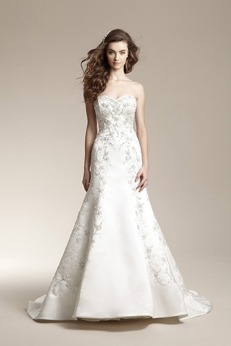 Wedding Dresses, Sweetheart Wedding Dresses, Mermaid Wedding Dresses, Romantic Wedding Dresses, Fashion, white, Fall, Winter, Classic, Romantic, Sweetheart, Strapless, Strapless Wedding Dresses, Beading, V-neck, V-neck Wedding Dresses, Satin, Floor, Formal, Natural, Modest, Sleeveless, Jasmine collection, Fit-n-Flare, Beaded Wedding Dresses, Classic Wedding Dresses, winter wedding dresses, satin wedding dresses, Fall Wedding Dresses, Formal Wedding Dresses, Floor Wedding Dresses, Modest Wedding Dresses