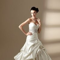 Wedding Dresses, Sweetheart Wedding Dresses, Ball Gown Wedding Dresses, Romantic Wedding Dresses, Hollywood Glam Wedding Dresses, Fashion, ivory, Fall, Winter, Classic, Romantic, Sweetheart, Strapless, Strapless Wedding Dresses, Satin, Floor, Organza, Natural, Tiers, Sleeveless, Ruching, Ball gown, Jasmine collection, Sash/Belt, hollywood glam, organza wedding dresses, Classic Wedding Dresses, winter wedding dresses, satin wedding dresses, Fall Wedding Dresses, Floor Wedding Dresses, Sash Wedding Dresses, Belt Wedding Dresses, Tiered Wedding Dresses