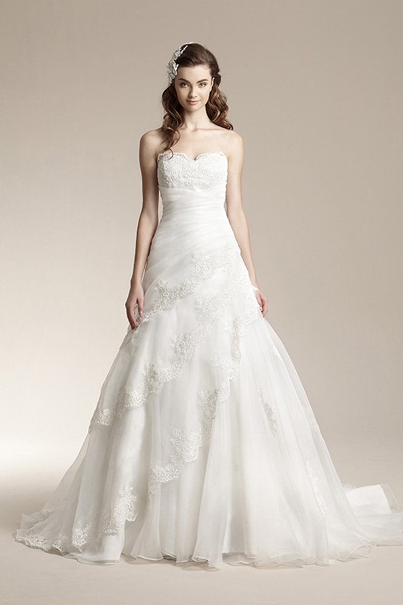 Wedding Dresses, Sweetheart Wedding Dresses, Mermaid Wedding Dresses, Lace Wedding Dresses, Romantic Wedding Dresses, Fashion, ivory, Fall, Winter, Shabby Chic, Romantic, Lace, Sweetheart, Strapless, Strapless Wedding Dresses, Floor, Formal, Organza, Natural, Tiers, Modest, Sleeveless, Ruching, Jasmine collection, Fit-n-Flare, organza wedding dresses, winter wedding dresses, Fall Wedding Dresses, Formal Wedding Dresses, Floor Wedding Dresses, Modest Wedding Dresses, Shabby Chic Wedding Dresses, Tiered Wedding Dresses