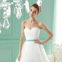 Wedding Dresses, Sweetheart Wedding Dresses, A-line Wedding Dresses, Lace Wedding Dresses, Romantic Wedding Dresses, Fashion, white, ivory, blue, Classic, Romantic, Lace, Sweetheart, Strapless, Strapless Wedding Dresses, A-line, Beading, Tulle, Satin, Floor, Formal, Sleeveless, Ruching, Jasmine collection, Sash/Belt, Beaded Wedding Dresses, Classic Wedding Dresses, tulle wedding dresses, satin wedding dresses, Formal Wedding Dresses, Floor Wedding Dresses, Sash Wedding Dresses, Belt Wedding Dresses