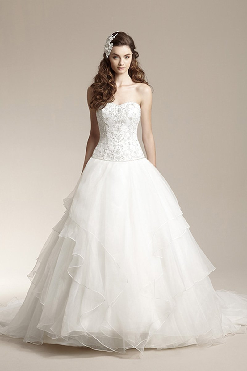 Wedding Dresses, Sweetheart Wedding Dresses, Ball Gown Wedding Dresses, Romantic Wedding Dresses, Vintage Wedding Dresses, Fashion, ivory, Fall, Winter, Vintage, Classic, Shabby Chic, Romantic, Sweetheart, Strapless, Strapless Wedding Dresses, Beading, Floor, Organza, Natural, Tiers, Sleeveless, Ball gown, Jasmine collection, Beaded Wedding Dresses, organza wedding dresses, Classic Wedding Dresses, winter wedding dresses, Fall Wedding Dresses, Floor Wedding Dresses, Shabby Chic Wedding Dresses, Tiered Wedding Dresses