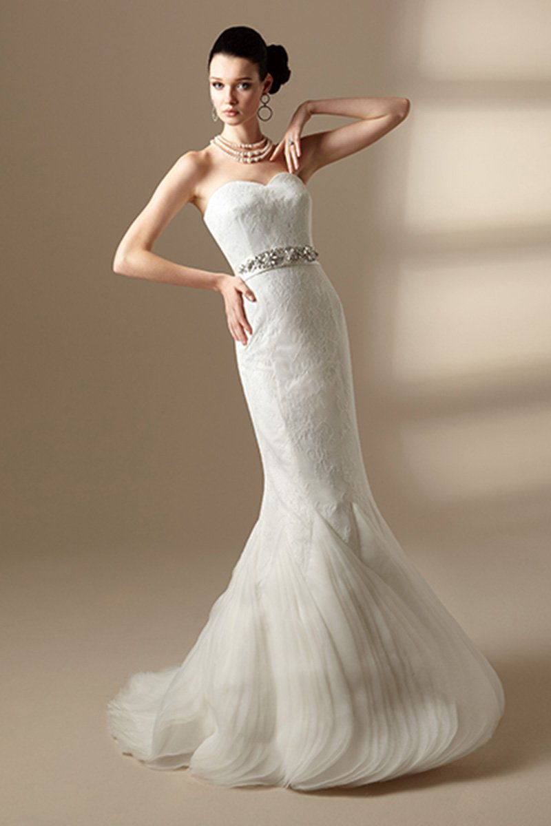 Wedding Dresses, Sweetheart Wedding Dresses, Mermaid Wedding Dresses, Romantic Wedding Dresses, Hollywood Glam Wedding Dresses, Fashion, ivory, Fall, Winter, Romantic, Sweetheart, Strapless, Strapless Wedding Dresses, Beading, Satin, Floor, Organza, Natural, Sleeveless, Jasmine collection, Avant-Garde, Mermaid/Trumpet, hollywood glam, Beaded Wedding Dresses, organza wedding dresses, trumpet wedding dresses, winter wedding dresses, satin wedding dresses, Fall Wedding Dresses, Floor Wedding Dresses