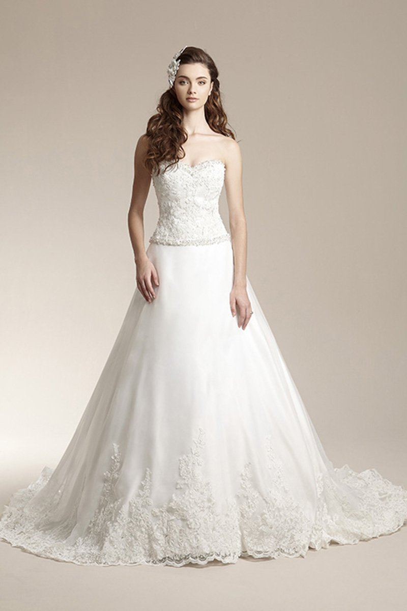 Wedding Dresses, Sweetheart Wedding Dresses, Ball Gown Wedding Dresses, Lace Wedding Dresses, Romantic Wedding Dresses, Fashion, white, Fall, Winter, Modern, Romantic, Lace, Sweetheart, Strapless, Strapless Wedding Dresses, Beading, Floor, Formal, Organza, Natural, Modest, Sleeveless, Ball gown, Jasmine collection, Modern Wedding Dresses, Beaded Wedding Dresses, organza wedding dresses, winter wedding dresses, Fall Wedding Dresses, Formal Wedding Dresses, Floor Wedding Dresses, Modest Wedding Dresses
