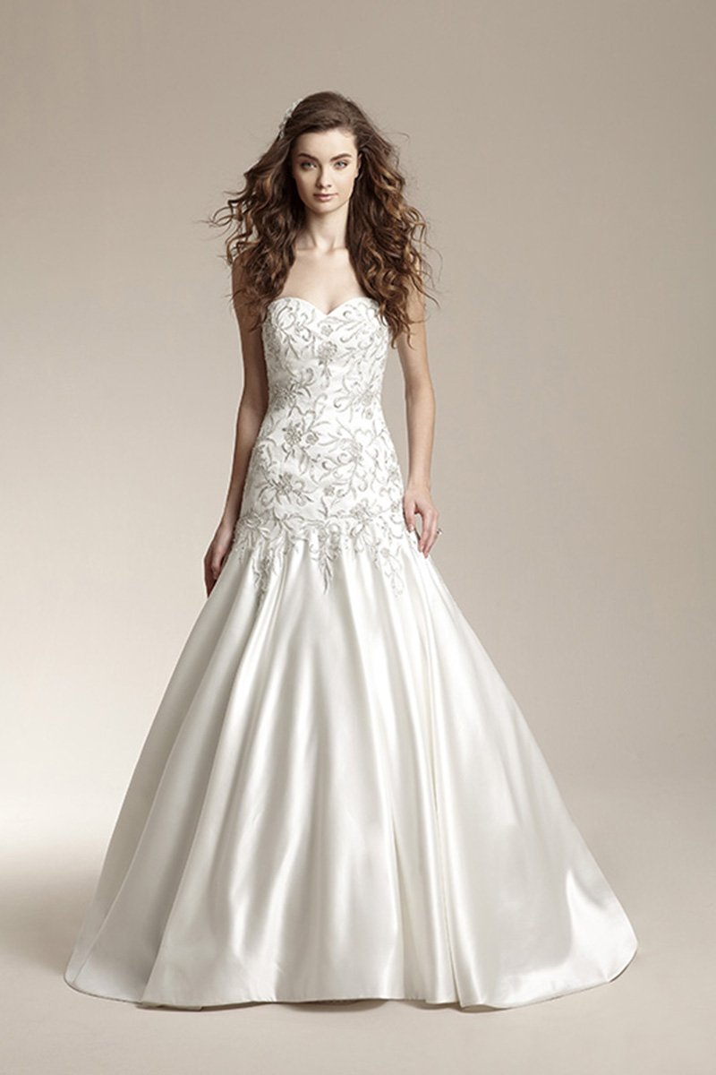 Wedding Dresses, Sweetheart Wedding Dresses, Mermaid Wedding Dresses, Romantic Wedding Dresses, Hollywood Glam Wedding Dresses, Fashion, ivory, Fall, Winter, Classic, Romantic, Sweetheart, Strapless, Strapless Wedding Dresses, Satin, Floor, Dropped, Sleeveless, Jasmine collection, Mermaid/Trumpet, hollywood glam, trumpet wedding dresses, Classic Wedding Dresses, winter wedding dresses, satin wedding dresses, Fall Wedding Dresses, Floor Wedding Dresses