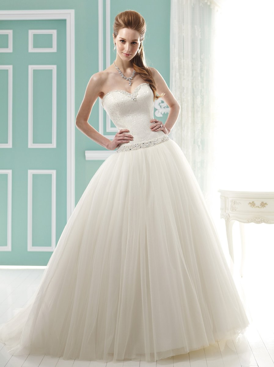 Wedding Dresses, Sweetheart Wedding Dresses, Ball Gown Wedding Dresses, Romantic Wedding Dresses, Fashion, ivory, Romantic, Sweetheart, Strapless, Strapless Wedding Dresses, Beading, Tulle, Satin, Floor, Formal, Dropped, Pleats, Sleeveless, Ball gown, Jasmine collection, Beaded Wedding Dresses, tulle wedding dresses, satin wedding dresses, Formal Wedding Dresses, Floor Wedding Dresses