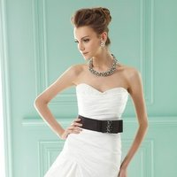 Wedding Dresses, Sweetheart Wedding Dresses, A-line Wedding Dresses, Romantic Wedding Dresses, Fashion, white, ivory, black, Romantic, Sweetheart, Strapless, Strapless Wedding Dresses, A-line, Floor, Formal, Hip, Taffeta, Pick-ups, Sleeveless, Ruching, Jasmine collection, Sash/Belt, taffeta wedding dresses, Formal Wedding Dresses, Floor Wedding Dresses, Hip Wedding Dresses, Sash Wedding Dresses, Belt Wedding Dresses