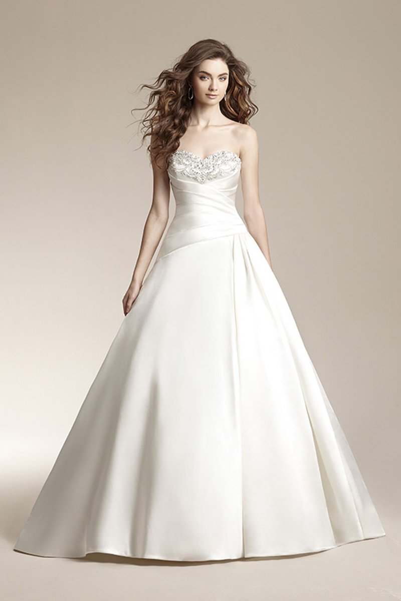 Wedding Dresses, Sweetheart Wedding Dresses, Ball Gown Wedding Dresses, Romantic Wedding Dresses, Fashion, ivory, Fall, Winter, Classic, Romantic, Sweetheart, Strapless, Strapless Wedding Dresses, Beading, Satin, Floor, Natural, Pleats, Sleeveless, Ball gown, Jasmine collection, Nautical/Preppy, Beaded Wedding Dresses, Classic Wedding Dresses, winter wedding dresses, satin wedding dresses, Fall Wedding Dresses, Floor Wedding Dresses
