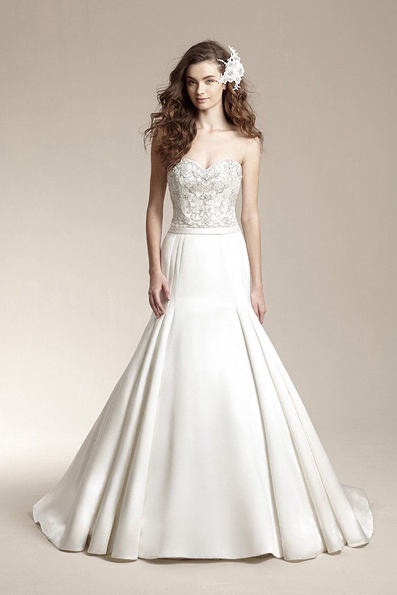 Wedding Dresses, Sweetheart Wedding Dresses, Mermaid Wedding Dresses, Fashion, ivory, Fall, Winter, Sweetheart, Strapless, Strapless Wedding Dresses, Beading, Satin, Floor, Formal, Natural, Hip, Modest, Sleeveless, Jasmine collection, Fit-n-Flare, Beaded Wedding Dresses, winter wedding dresses, satin wedding dresses, Fall Wedding Dresses, Formal Wedding Dresses, Floor Wedding Dresses, Modest Wedding Dresses, Hip Wedding Dresses