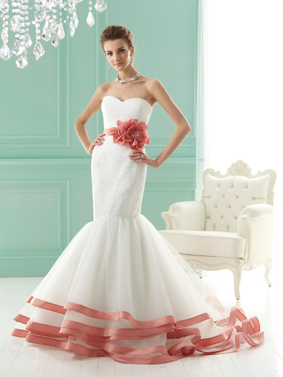 Wedding Dresses, Sweetheart Wedding Dresses, Mermaid Wedding Dresses, Romantic Wedding Dresses, Fashion, white, ivory, pink, Flowers, Romantic, Sweetheart, Strapless, Strapless Wedding Dresses, Tulle, Satin, Floor, Tiers, Hip, Sleeveless, Jasmine collection, Mermaid/Trumpet, Sash/Belt, Fit-n-Flare, trumpet wedding dresses, tulle wedding dresses, satin wedding dresses, Flower Wedding Dresses, Floor Wedding Dresses, Hip Wedding Dresses, Sash Wedding Dresses, Belt Wedding Dresses, Tiered Wedding Dresses