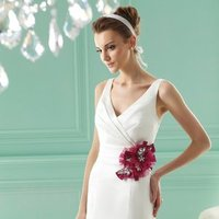 Wedding Dresses, Mermaid Wedding Dresses, Hollywood Glam Wedding Dresses, Fashion, white, ivory, burgundy, Flowers, Spaghetti straps, Beading, V-neck, V-neck Wedding Dresses, Satin, Floor, Hip, Pleats, Sleeveless, Jasmine collection, Mermaid/Trumpet, Fit-n-Flare, hollywood glam, Beaded Wedding Dresses, trumpet wedding dresses, satin wedding dresses, Flower Wedding Dresses, Spahetti Strap Wedding Dresses, Floor Wedding Dresses, Hip Wedding Dresses