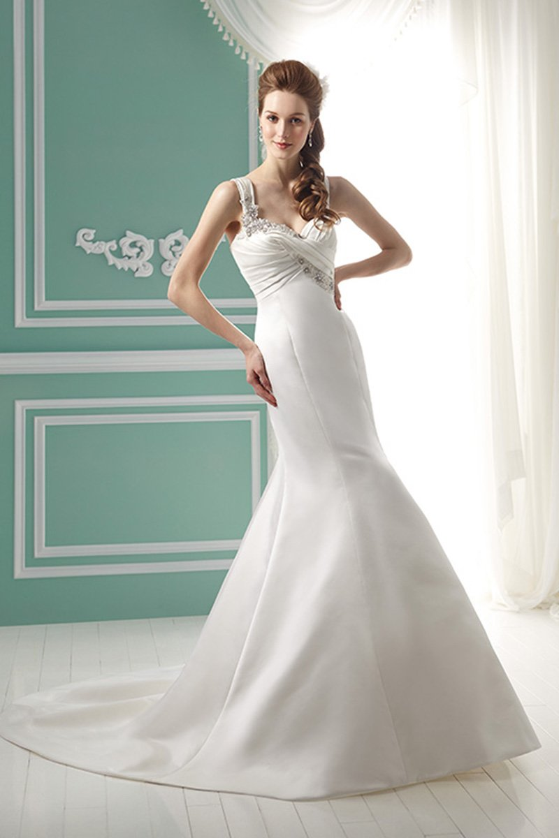 Wedding Dresses, Sweetheart Wedding Dresses, Mermaid Wedding Dresses, Romantic Wedding Dresses, Fashion, white, Fall, Winter, Modern, Romantic, Sweetheart, Beading, Satin, Floor, Formal, Organza, Natural, Sleeveless, Ruching, Jasmine collection, Fit-n-Flare, Modern Wedding Dresses, Beaded Wedding Dresses, organza wedding dresses, winter wedding dresses, satin wedding dresses, Fall Wedding Dresses, Formal Wedding Dresses, Floor Wedding Dresses