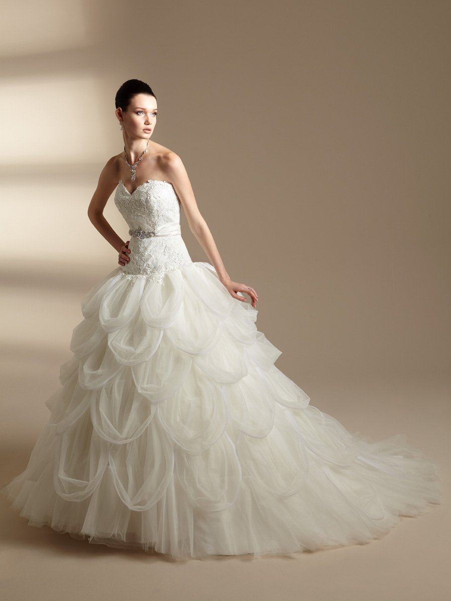 Wedding Dresses, Sweetheart Wedding Dresses, Ball Gown Wedding Dresses, Ruffled Wedding Dresses, Lace Wedding Dresses, Romantic Wedding Dresses, Fashion, white, ivory, Romantic, Lace, Sweetheart, Strapless, Strapless Wedding Dresses, Tulle, Floor, Formal, Ruffles, Taffeta, Pick-ups, Sleeveless, Ball gown, Jasmine couture, Sash/Belt, taffeta wedding dresses, tulle wedding dresses, Formal Wedding Dresses, Floor Wedding Dresses, Sash Wedding Dresses, Belt Wedding Dresses