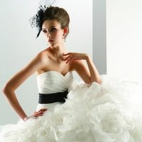 Wedding Dresses, Sweetheart Wedding Dresses, Ball Gown Wedding Dresses, Ruffled Wedding Dresses, Fashion, white, ivory, black, Flowers, Sweetheart, Strapless, Strapless Wedding Dresses, Floor, Organza, Ruffles, Dropped, Taffeta, Sleeveless, Ball gown, Jasmine couture, Avant-Garde, Sash/Belt, organza wedding dresses, taffeta wedding dresses, Flower Wedding Dresses, Floor Wedding Dresses, Sash Wedding Dresses, Belt Wedding Dresses