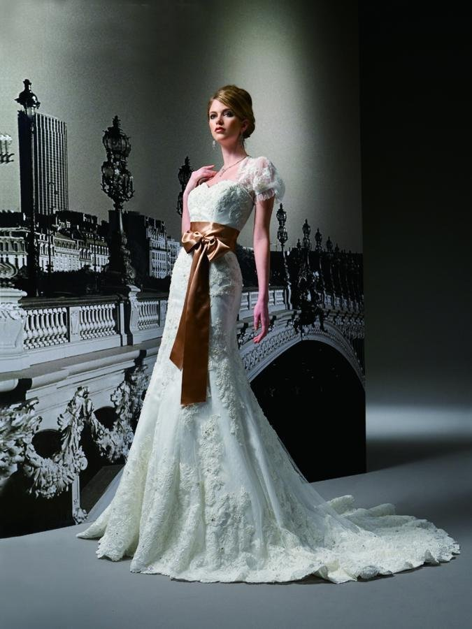 Wedding Dresses, Sweetheart Wedding Dresses, A-line Wedding Dresses, Lace Wedding Dresses, Romantic Wedding Dresses, Fashion, white, ivory, brown, Romantic, Lace, Sweetheart, Strapless, Strapless Wedding Dresses, A-line, Beading, Floor, Formal, Organza, Sleeveless, Jasmine couture, cap sleeve, Jacket/Bolero, Beaded Wedding Dresses, organza wedding dresses, Formal Wedding Dresses, Floor Wedding Dresses