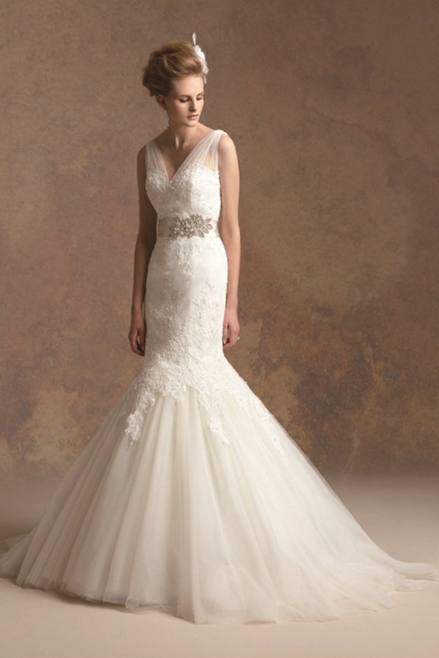 Wedding Dresses, Sweetheart Wedding Dresses, Mermaid Wedding Dresses, Lace Wedding Dresses, Romantic Wedding Dresses, Vintage Wedding Dresses, Fashion, ivory, Fall, Winter, Vintage, Classic, Romantic, Lace, Sweetheart, Beading, V-neck, V-neck Wedding Dresses, Tulle, Natural, Sleeveless, Jasmine couture, Mermaid/Trumpet, Sash/Belt, Beaded Wedding Dresses, trumpet wedding dresses, Classic Wedding Dresses, tulle wedding dresses, winter wedding dresses, Fall Wedding Dresses, Sash Wedding Dresses, Belt Wedding Dresses