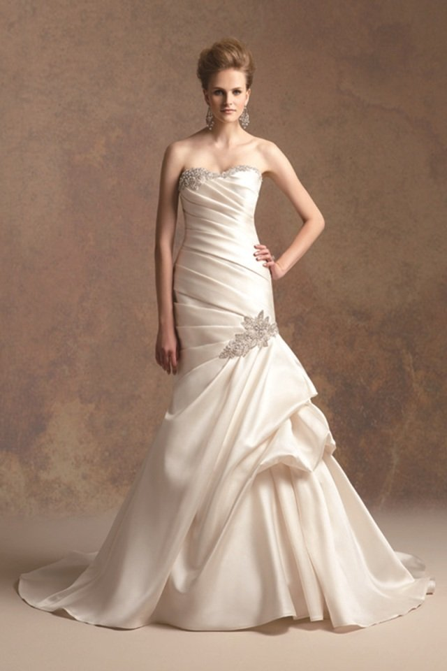 Sweetheart Wedding Dresses, Mermaid Wedding Dresses, Fashion, ivory, Fall, Winter, Modern, Sweetheart, Strapless, Strapless Wedding Dresses, Beading, Satin, Floor, Chiffon, Formal, Dropped, Pick-ups, Sleeveless, Ruching, Jasmine couture, Avant-Garde, Mermaid/Trumpet, Modern Wedding Dresses, Beaded Wedding Dresses, trumpet wedding dresses, wedding dressses, winter wedding dresses, satin wedding dresses, Fall Wedding Dresses, Chiffon Wedding Dresses, Formal Wedding Dresses, Floor Wedding Dresses