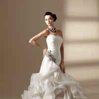 Wedding Dresses, Sweetheart Wedding Dresses, A-line Wedding Dresses, Ruffled Wedding Dresses, Hollywood Glam Wedding Dresses, Fashion, white, ivory, Sweetheart, Strapless, Strapless Wedding Dresses, A-line, Beading, Floor, Ruffles, Taffeta, Sleeveless, Ruching, Jasmine couture, hollywood glam, Beaded Wedding Dresses, taffeta wedding dresses, Floor Wedding Dresses