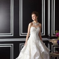 Wedding Dresses, Sweetheart Wedding Dresses, A-line Wedding Dresses, Lace Wedding Dresses, Fashion, Flowers, Lace, Sweetheart, Strapless, Strapless Wedding Dresses, A-line, Beading, Beaded Wedding Dresses, teirs, Flower Wedding Dresses