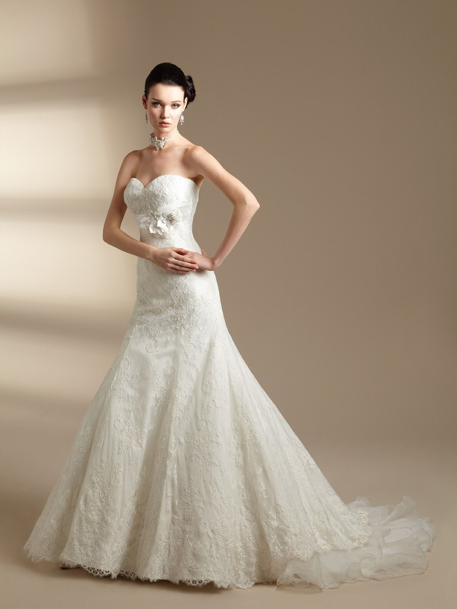 Wedding Dresses, Sweetheart Wedding Dresses, Mermaid Wedding Dresses, Lace Wedding Dresses, Vintage Wedding Dresses, Fashion, white, ivory, Vintage, Classic, Flowers, Lace, Sweetheart, Strapless, Strapless Wedding Dresses, Floor, Organza, Sleeveless, Jasmine couture, Fit-n-Flare, organza wedding dresses, Classic Wedding Dresses, Flower Wedding Dresses, Floor Wedding Dresses