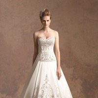 Wedding Dresses, Sweetheart Wedding Dresses, A-line Wedding Dresses, Ball Gown Wedding Dresses, Fashion, Flowers, Train, Sweetheart, Strapless, Strapless Wedding Dresses, A-line, Beading, Satin, Ball gown, Beaded Wedding Dresses, satin wedding dresses, Flower Wedding Dresses