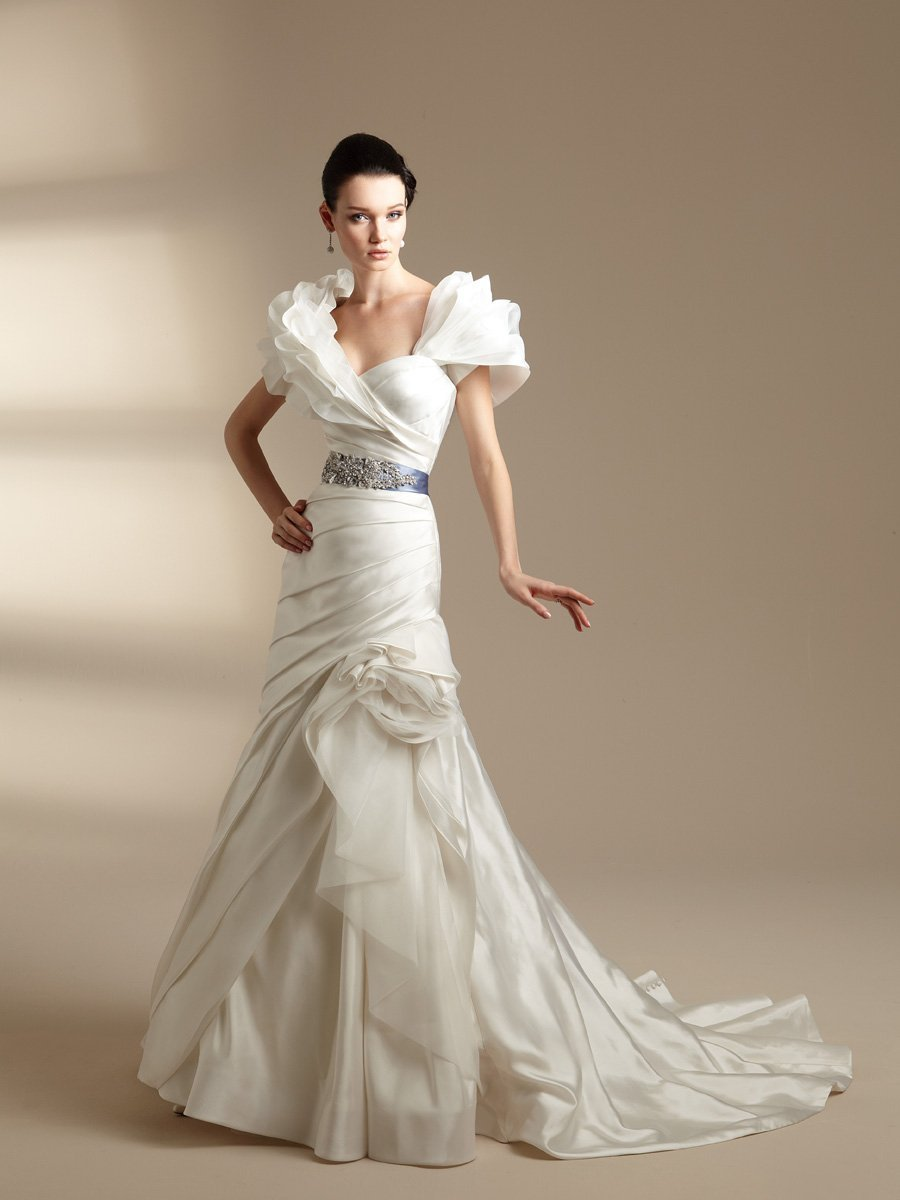 Wedding Dresses, Sweetheart Wedding Dresses, A-line Wedding Dresses, Fashion, white, ivory, blue, Shabby Chic, Sweetheart, Strapless, Strapless Wedding Dresses, A-line, Beading, Floor, Taffeta, Pick-ups, Sleeveless, Ruching, Jasmine couture, Sash/Belt, Jacket/Bolero, Beaded Wedding Dresses, taffeta wedding dresses, Floor Wedding Dresses, Shabby Chic Wedding Dresses, Sash Wedding Dresses, Belt Wedding Dresses