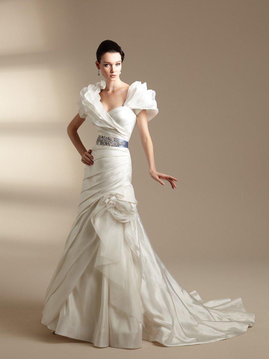 Wedding Dresses, Sweetheart Wedding Dresses, A-line Wedding Dresses, Fashion, white, ivory, blue, Shabby Chic, Sweetheart, Strapless, Strapless Wedding Dresses, A-line, Beading, Floor, Taffeta, Pick-ups, Sleeveless, Ruching, Jasmine couture, Sash/Belt, Jacket/Bolero, Beaded Wedding Dresses, taffeta wedding dresses, Floor Wedding Dresses, Shabby Chic Wedding Dresses, Sash Wedding Dresses, Belt Wedding Dresses