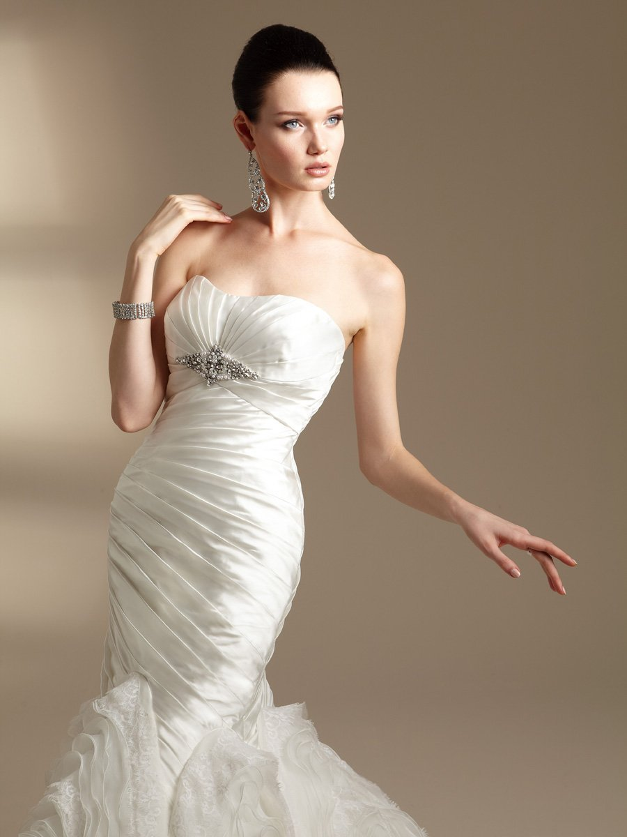 Wedding Dresses, Sweetheart Wedding Dresses, Mermaid Wedding Dresses, Ruffled Wedding Dresses, Lace Wedding Dresses, Fashion, white, ivory, Modern, Lace, Sweetheart, Strapless, Strapless Wedding Dresses, Beading, Empire, Floor, Ruffles, Taffeta, Pleats, Sleeveless, Jasmine couture, Mermaid/Trumpet, Fit-n-Flare, Modern Wedding Dresses, Beaded Wedding Dresses, taffeta wedding dresses, trumpet wedding dresses, Floor Wedding Dresses