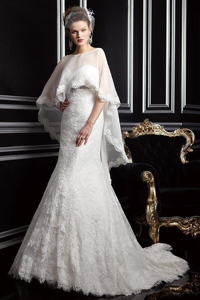 Wedding Dresses, Sweetheart Wedding Dresses, A-line Wedding Dresses, Lace Wedding Dresses, Fashion, white, Fall, Winter, Lace, Sweetheart, Strapless, Strapless Wedding Dresses, A-line, Empire, Cape, Jasmine couture, winter wedding dresses, Fall Wedding Dresses