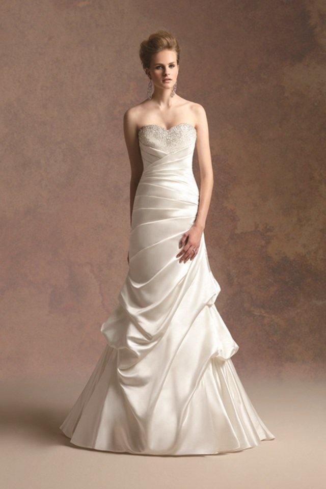 Wedding Dresses, Sweetheart Wedding Dresses, A-line Wedding Dresses, Fashion, ivory, Fall, Winter, Modern, Sweetheart, Strapless, Strapless Wedding Dresses, A-line, Satin, Floor, Formal, Natural, Hip, Pick-ups, Sleeveless, Ruching, Jasmine couture, Avant-Garde, Modern Wedding Dresses, winter wedding dresses, satin wedding dresses, Fall Wedding Dresses, Formal Wedding Dresses, Floor Wedding Dresses, Hip Wedding Dresses