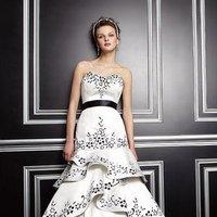 Wedding Dresses, Sweetheart Wedding Dresses, Ruffled Wedding Dresses, Fashion, white, black, Sweetheart, Strapless, Strapless Wedding Dresses, Ruffles, Jasmine couture, teirs, Belt/Sash