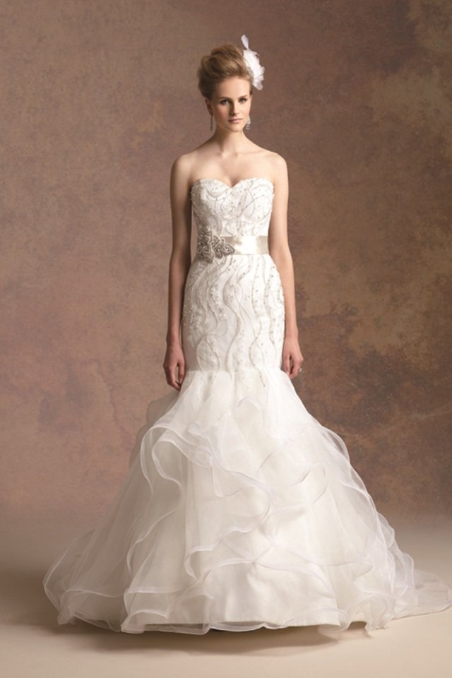 Wedding Dresses, Sweetheart Wedding Dresses, Mermaid Wedding Dresses, Lace Wedding Dresses, Romantic Wedding Dresses, Hollywood Glam Wedding Dresses, Fashion, Classic, Romantic, Lace, Sweetheart, Strapless, Strapless Wedding Dresses, Beading, Satin, Floor, Organza, Natural, Sleeveless, Jasmine couture, Avant-Garde, Mermaid/Trumpet, Sash/Belt, hollywood glam, Beaded Wedding Dresses, organza wedding dresses, trumpet wedding dresses, Classic Wedding Dresses, satin wedding dresses, Floor Wedding Dresses, Sash Wedding Dresses, Belt Wedding Dresses