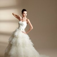 Wedding Dresses, Sweetheart Wedding Dresses, A-line Wedding Dresses, Ball Gown Wedding Dresses, Ruffled Wedding Dresses, Romantic Wedding Dresses, Fashion, white, ivory, Flowers, Romantic, Sweetheart, Strapless, Strapless Wedding Dresses, A-line, Empire, Short, Tulle, Floor, Ruffles, Tiers, Sleeveless, Ball gown, Jasmine couture, Avant-Garde, Short Wedding Dresses, tulle wedding dresses, Flower Wedding Dresses, Floor Wedding Dresses, Tiered Wedding Dresses
