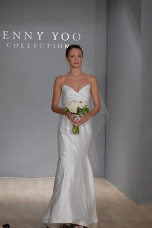 Wedding Dresses, Romantic Wedding Dresses, Fashion, Summer, Mermaid, Romantic, Spaghetti straps, Empire, Jenny yoo, Embroidery, Silk, floor length, beach casual, jenny yoo brides, Spahetti Strap Wedding Dresses, Silk Wedding Dresses, Summer Wedding Dresses