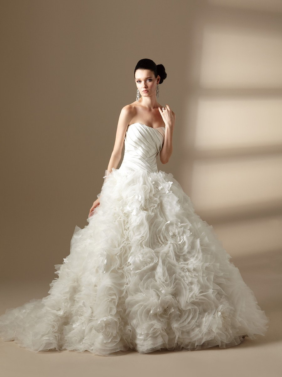 Wedding Dresses, Sweetheart Wedding Dresses, Ball Gown Wedding Dresses, Ruffled Wedding Dresses, Fashion, white, ivory, Flowers, Sweetheart, Strapless, Strapless Wedding Dresses, Beading, Tulle, Satin, Floor, Organza, Ruffles, Sleeveless, Ball gown, Jasmine couture, Avant-Garde, Beaded Wedding Dresses, organza wedding dresses, tulle wedding dresses, satin wedding dresses, Flower Wedding Dresses, Floor Wedding Dresses