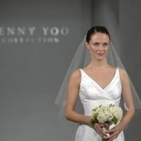 Wedding Dresses, A-line Wedding Dresses, Fashion, Modern, Classic, A-line, V-neck, V-neck Wedding Dresses, Jenny yoo, Silk, Tank, Sleeveless, empire waist, floor length, Modern Wedding Dresses, Classic Wedding Dresses, jenny yoo brides, Silk Wedding Dresses
