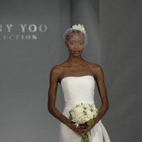 Wedding Dresses, Fashion, Modern, Classic, Strapless, Strapless Wedding Dresses, Sheath, Jenny yoo, Ribbons, Sashes, Natural, Silk, Sleeveless, floor length, Modern Wedding Dresses, Classic Wedding Dresses, jenny yoo brides, Sheath Wedding Dresses, Silk Wedding Dresses