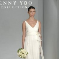 Wedding Dresses, A-line Wedding Dresses, Fashion, Summer, A-line, Empire, V-neck, V-neck Wedding Dresses, Jenny yoo, Chiffon, Ribbons, Sashes, Silk, Tank, Sleeveless, floor length, beach casual, jenny yoo brides, Chiffon Wedding Dresses, Silk Wedding Dresses, Summer Wedding Dresses