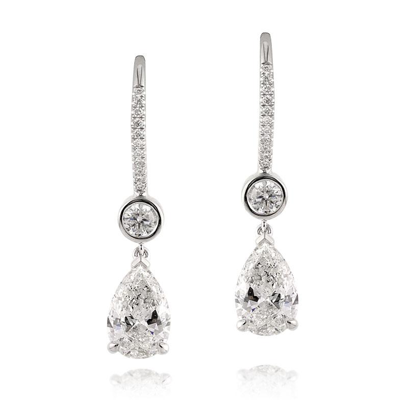 Jewelry, Earrings, Wedding Day Jewelry, Diamonds, Diamond earrings, Pear Shape
